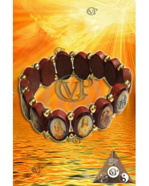 BRACELET BOIS MULTI SAINTS (BRA014)