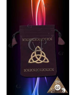 MINI BOURSE EN VELOURS CHARMED
