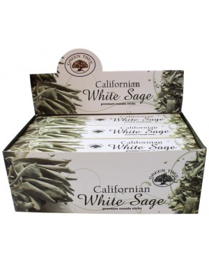 "Encens Sauge Blanche en stick Green Tree ""Californian White Sage"" - 15 grs"