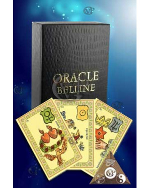 """L'ORACLE BELLINE """"version luxe """" Cartes Tranches OR"""